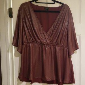 Torrid shimmer blouse